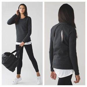 Lululemon Go Endeavor Cut-Out Sweatshirt in Grey